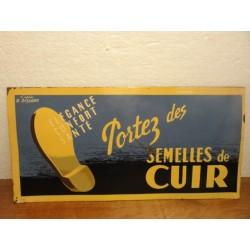 TOLE SEMELLES DE CUIR 32.50CM X16CM