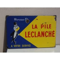 PLAQUE EMAILLEE PILE LECLANCHE  58CM X38CM