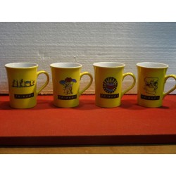 4 MUGS LIPTON FRIENDS COLLECTOR  25CL HT. 10.50CM
