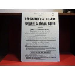 TABLEAU PROTECTION DES MINEURS 1965