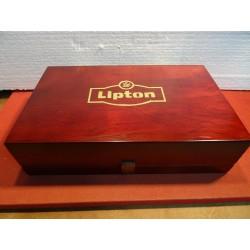 BOITE A THE  LIPTON  EN BOIS 34CM X21CM