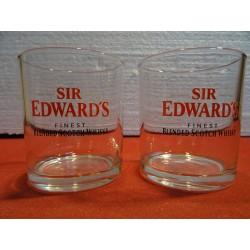 DEUX VERRES SIR EDWARD'S 18CL HT.8.30CM