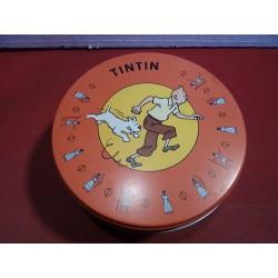 1 BOITE TINITIN  DIAMETRE 15.60CM