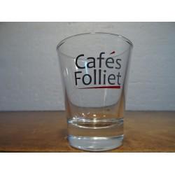 6 VERRES A CAFE FOLLIET HT. 7CM