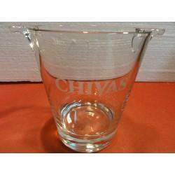 1 SEAU A GLACE  CHIVAS EN VERRE  HT. 16.50CM