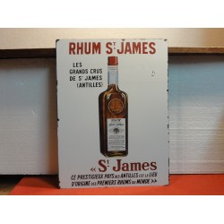 PLAQUE RHUM SAINT JAMES EN TOLE NON EMAILLEE