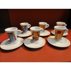 6 TASSES A CAFE FOLLIET DECENTREES N° 23