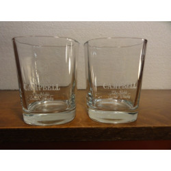 DEUX VERRES WHISKY CLAN CAMPBELL