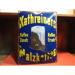 PLAQUE EMAILLEE  BOMBEE KAFFEE KATHREINERS 40CM X30CM