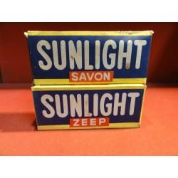 DEUX BOITES SAVON SUNLIGHT