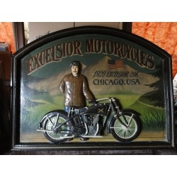 CADRE BOIS EXCELSIOR MOTORCYCLES 70CM X55CM