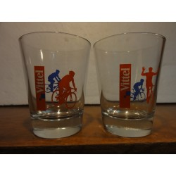 DEUX VERRES VITTEL COLLECTOR TOUR DE FRANCE