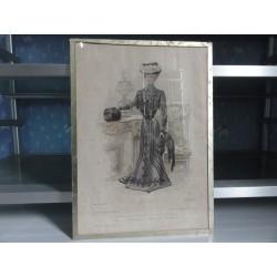 GRAVURE LE MONITEUR DE LA MODE  N°49  1899
