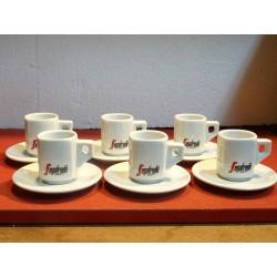 6 TASSES A CAFE SEGAFREDO