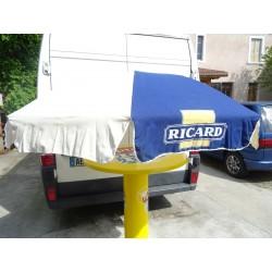 PARASOL RICARD  BLANC/BLEU...