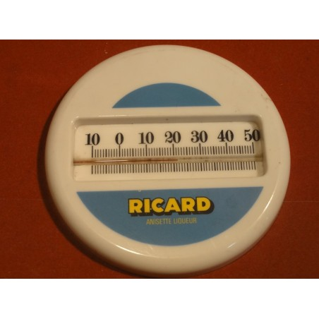 ANCIEN THERMOMETRE RICARD DIAMETRE 12CM