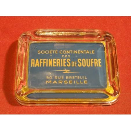 CENDRIER RAFFINERIES DE SOUFRE  MARSEILLE 11.80CM X8.90CM