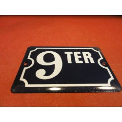 PLAQUE EMAILLEE 9 TER  15CM...