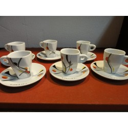 6 TASSES A CAFE FOLLIET N° 402