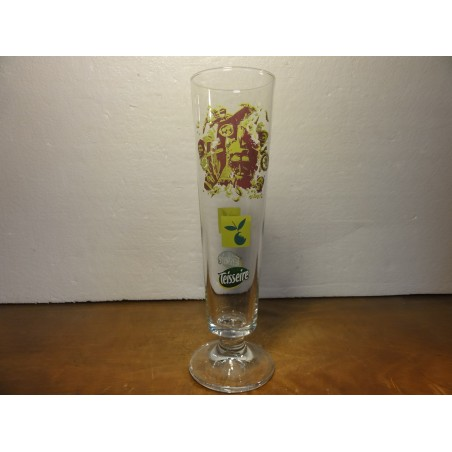 6 VERRES TEISSEIRE POMME COLLECTOR  25CL HT 24.30CM