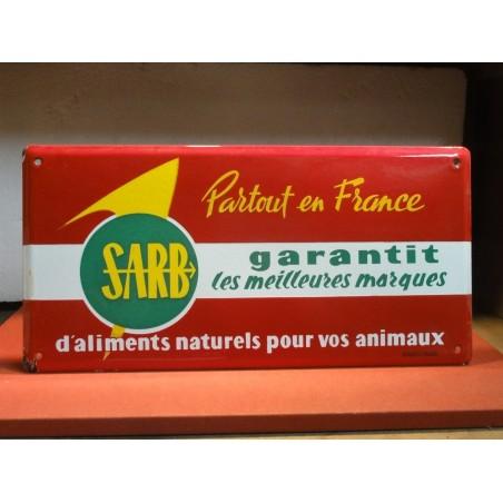 PLAQUE EMAILLEE ALIMENTS  SARB 49.50CM X25CM