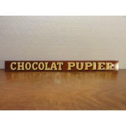 1 TOLE LITHO CHOCOLAT PUPIER