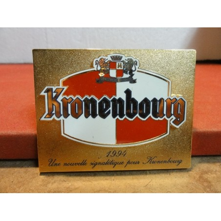 PLAQUE KRONENBOURG COLLECTOR EN METAL  9CM X7CM