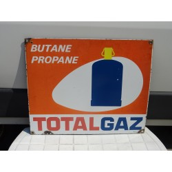 PLAQUE EMAILLEE TOTAL GAZ...