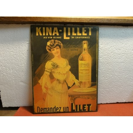 TOLE EMAILLEE  KINA LILLET 35CM X26.50CM