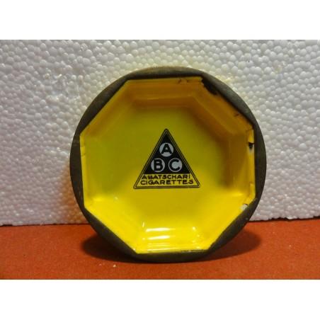CENDRIER EMAILLE  ABC / BATSCHARI DIAMETRE 10.50CM