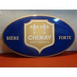 TOLE BIERE CHIMAY  45CM X26CM