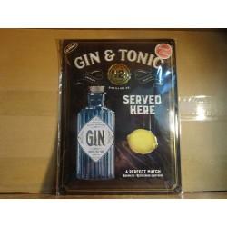 TOLE GIN & TONIC  40CM X30CM