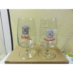 DEUX VERRES SCHUTZ DIFFERENTS 25CL