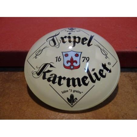 TRIPEL KARMELIET EN RESINE BOMBEE  DIAMETRE 8CM