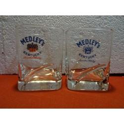 2 VERRES MEDLEY'S KENTUCKY...