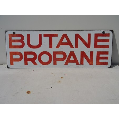 PLAQUE EMAILLEE  DOUBLE FACE BUTANE PROPANE