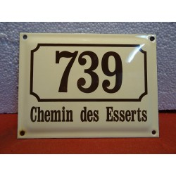 PLAQUE EMAILLEE  739 CHEMIN...