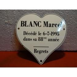 PLAQUE EMAILLEE  BLANC...