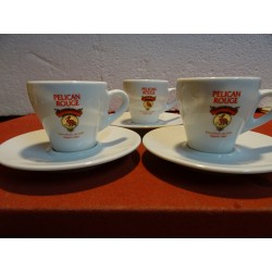 3 TASSES A CAFE PELICAN ROUGE