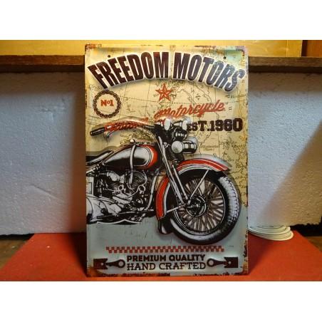 TOLE FREEDOM MOTORS  MOTO  40CM X28CM