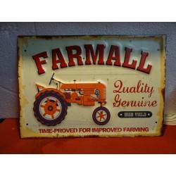 TOLE TRACTEUR FARMALL 40CM...