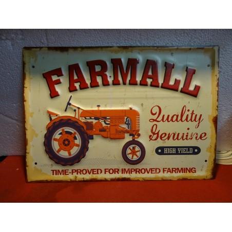 TOLE TRACTEUR FARMALL 40CM X28CM