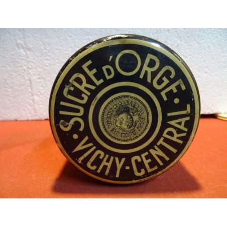 BOITE SUCRE D'ORGE VICHY  CENTRAL HT 8CM DIAMETRE 10.50CM