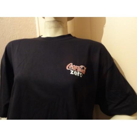 1 TEE SHIRT COCA-COLA  ZERO  TAILLE XL