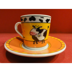 6 TASSES A CAFE  DECOR VACHE