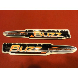 2 STIKERS BUZZ  VTT CROSS
