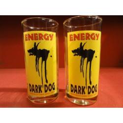 2 VERRES DARK DOG