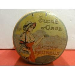 1 BOITE  SUCRE D'ORGE VICHY PRUNELLE