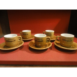 5 TASSES A CAFE COGNAC BISQUIT