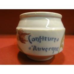 1 POT A CONFITURE D'AUVERGNE M. ROUZAUD CHOCOLAT DE ROYAT